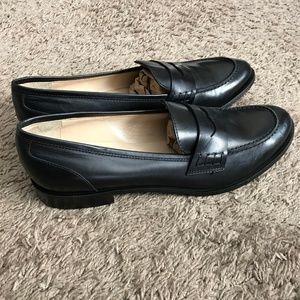 $275.00 Barneys NY Women's Black Loafer Shoes